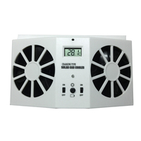 Auto Car Fans Solar Powered Cooling System Kit DC12V White Air Vent Exhaust Fan With Rubber