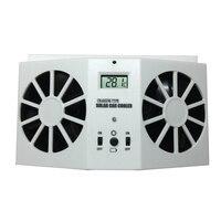 Auto Car kit de sistema de energía solar de Refrigeración ventiladores Blanco/Negro Vent Aire Extractor de aire con Desmontaje de Goma Del Coche Accesorios
