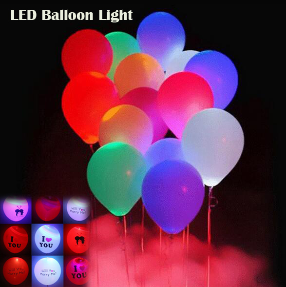 10pcs/set LED lights colorful sparkling light balloon wedding party decoration holiday supplies colorful balloons Christmas ball