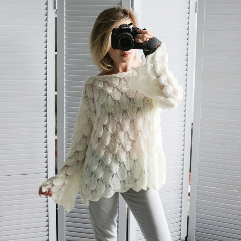 Hirsionsan Elegant Sweater Women 19 Casual Fashion Loose Women Sweaters and Pullovers Cute 3D Pink White Jumper Sueter Mujer 4