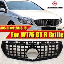 W176 GT R grille grill A Class A45 look glossy black A180 A200 A250 grills without sign For pre-facelift models to 09/2015