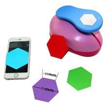 Super grande 3 hexagon punzoni di carta per scrapbooking del mestiere perfurador fai da te puncher di carta cerchio cutter3880