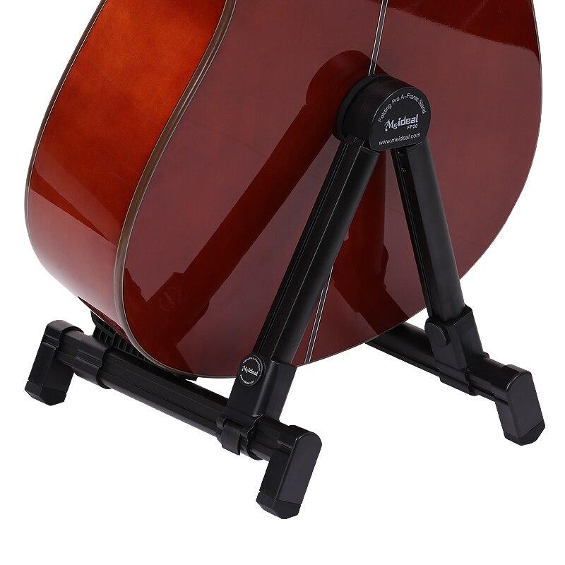 Ukulélé support de support de plancher de guitare noir carré en acier tuyau accessoires de guitare électrique support de guitare acoustique basse