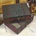 Классический винтажный деревянный ящик для хранения  деревянный ящик  восстанавливающий древний милый ювелирный ящик  органайзер  футляр с...