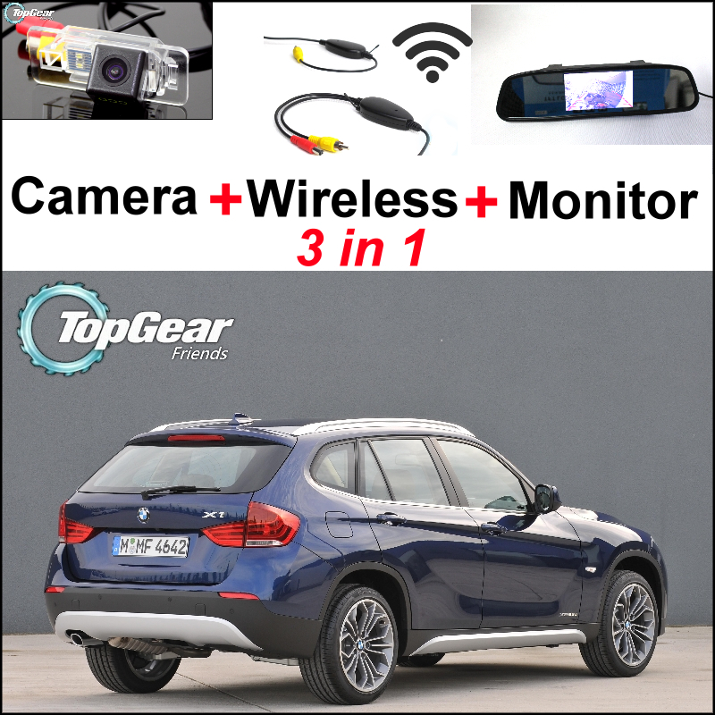 Special WiFi Camera + Wireless Receiver + Mirror Monitor Easy DIY Rear View Back Up Parking Backup System For BMW X1 E84 X3 E83 чехол для ножа victorinox swisstool 11 1 см черный