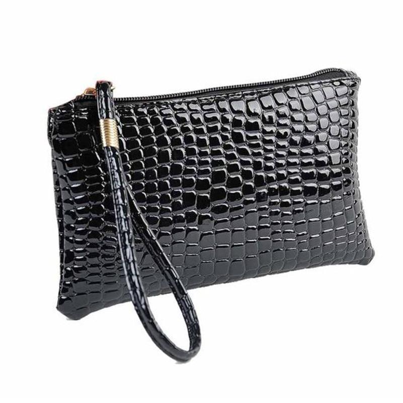 2017 New Fashion Coin Purse Women Crocodile PU Leather Clutch Bag Wallet Crocodile Small Purse Clutch Purse Bag Womens Bag