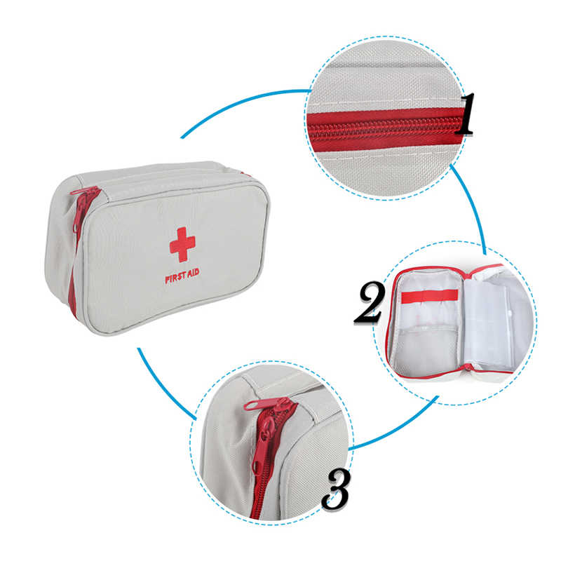 Stouge 1pc Oxford Cloth Waterproof Outdoor Travel First Aid Kit Portable Mini Small Medicine Bag home emergency Medical kit
