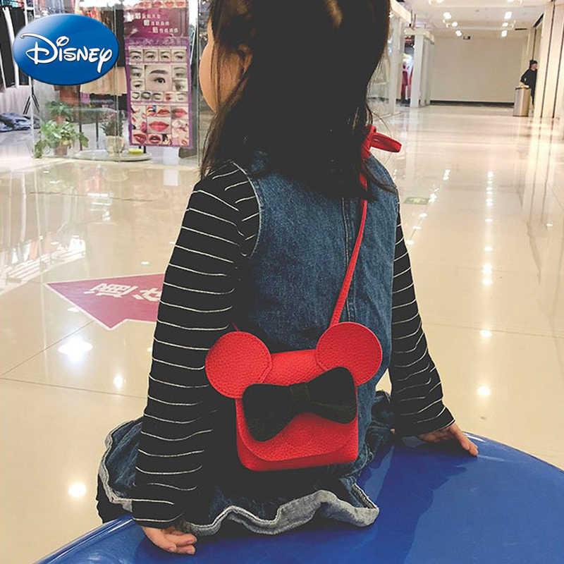 Mini bolso de la PU de la historieta del ratón de Mickey de Disney bolso de la manera del ocio de la manera del bolso de hombro de la señora bolso de La felpa mochila