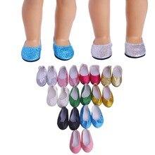 Les chaussures de princesse rose vif de Luckdoll sont idéales pour les filles américaines de 18 pouces et sont le cadeau de vacances parfait pour les enfants.