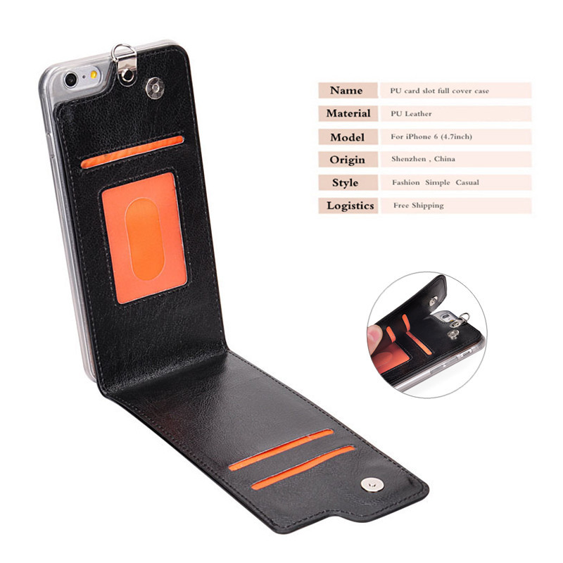 reputable site 611aa 098b9 US $10.7 |For iPhone 6 Case 4.7 inch Wallet Insert Card Slot Soft Back Full  Cover Flip Protector Phone Cases for fundas capa iphone 6 PU on ...