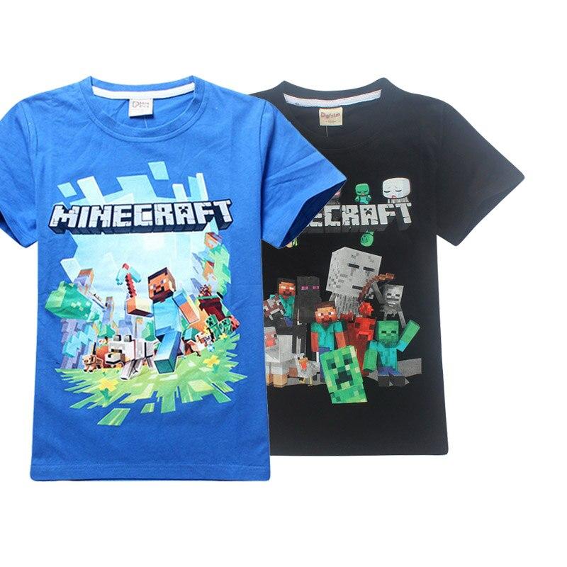 a862af89a Boy New Year 3D Cartoon Minecraft Print roblox T Shirt For Girls Tee ...