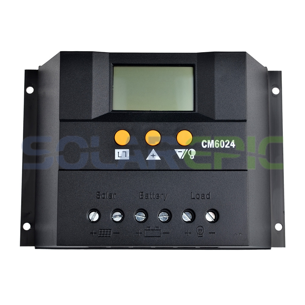 60A PWM Solar Controller Battery Panel Charge Regulator 12V/24VDC AUTO With LCD Display Solar Charger Controller 20a pwm duo battery solar panel charge controller regulator 12v 24vdc with remote meter mt1 control solar charger