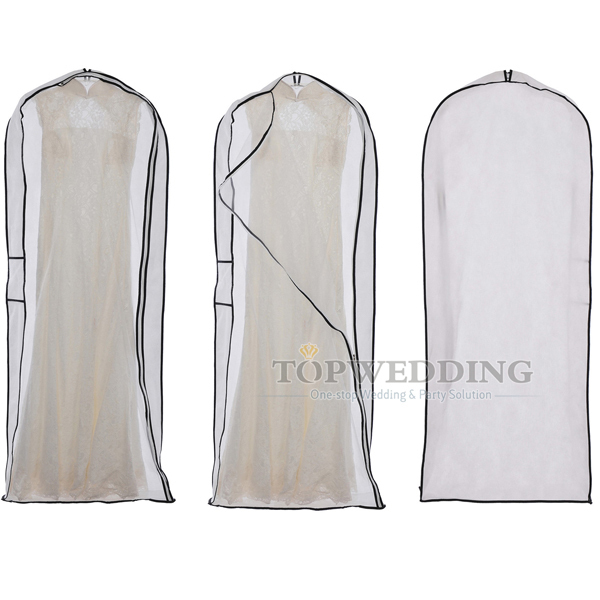 White Wedding Dress Suit Garment Bag Clothes Ng Dust Cover Bridal Gown