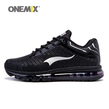 ONEMIX Men Athletic Shoes For Running Cushion DMX Man's Sport Walking Sneakers Trekking Trainers Runner Black Size US 6-12