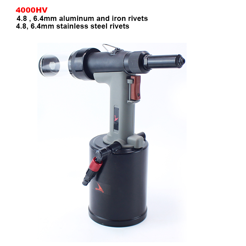 YOUSAILING Quality 4000HV 4.8-6.4mm Vacuum Pneumatic Hydraulic Rivets Gun Rivet Guns For Riveting 6.4mm Stainless Steel Rivets