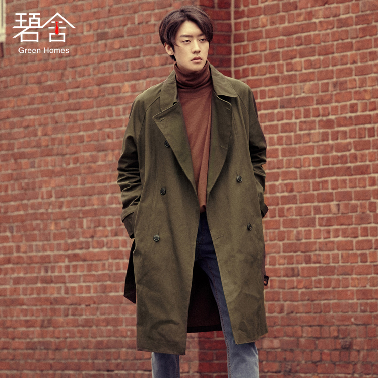 S-3XL!!Spring and autumn original male youth wind clothes in the long version of the han version of the loose retro casual coat