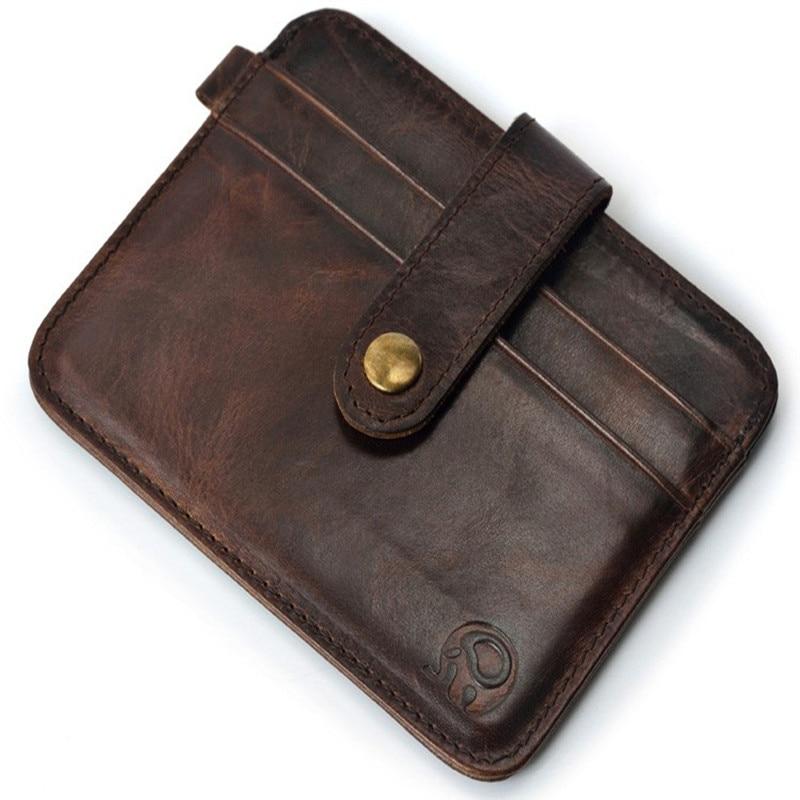 100% genuineFamous Brand Luxury Monedero de los hombres Monedero de la abrazadera masculina Money Clip walet portfolio cuzdan delgado perse Portomonee carteras