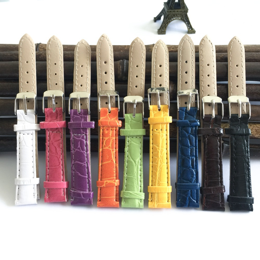 PU Bracelet Watch 14mm Watchband Straps For Clock Accessories 2019 Hot Multicolor Women's Watch Bands 14mm Correa Reloj X007