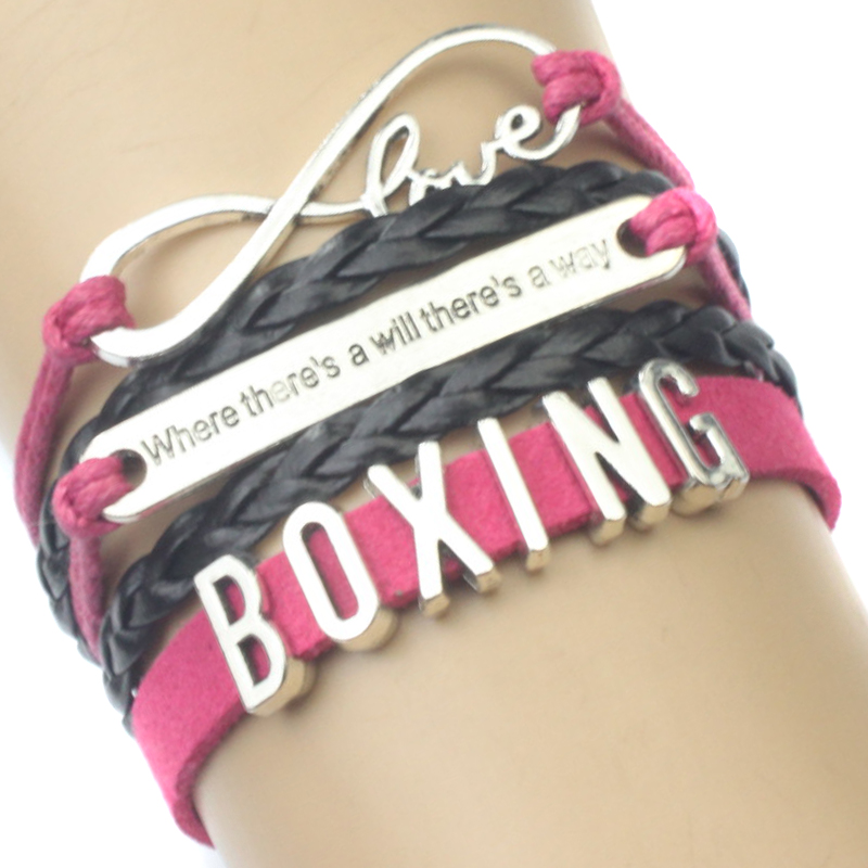 Infinity Love Boxing Bracelet Where there is a will there is a way Winner Gift for Boxers Custom Drop Shipping