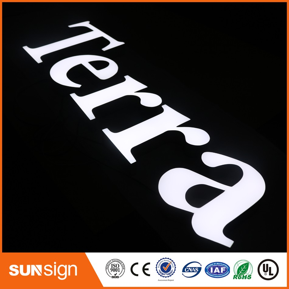 Stainless Steel Led Letters Flashing Signs LED Neon Letter Signs