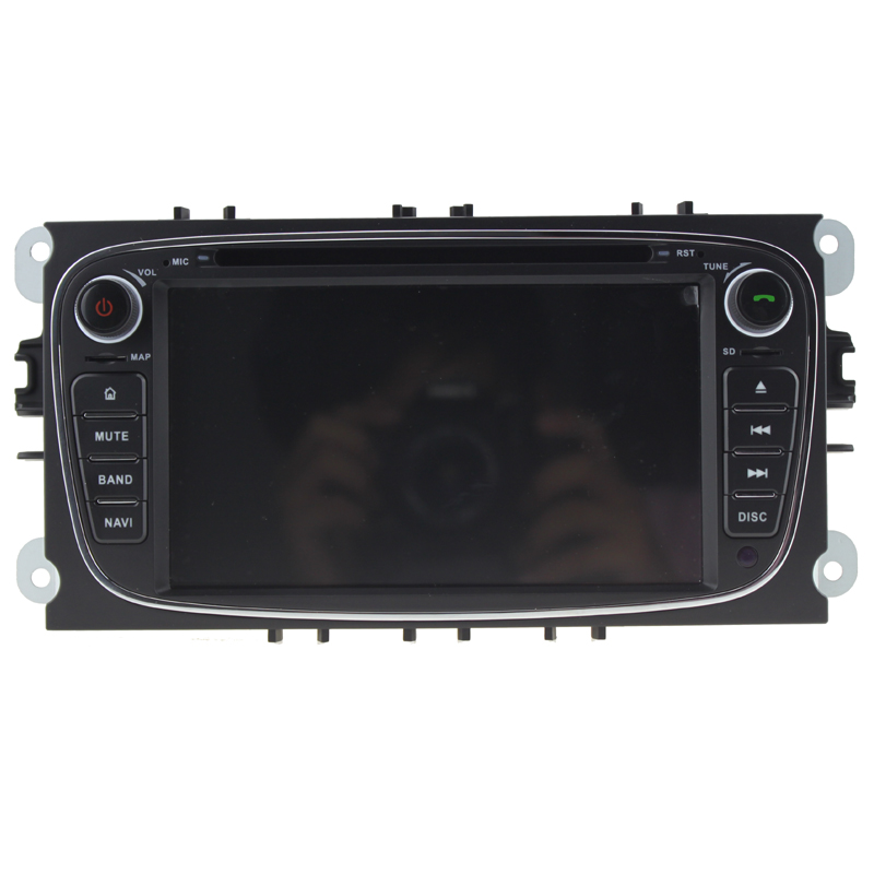 1024*600 2 din Android 7.11 Quad Core Car DVD Player GPS Navi for Ford Focus Mondeo Galaxy with Audio Radio Stereo Head Unit