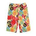 Estilo deportes flojos pantalones de la muchacha nova niños hasta la rodilla de verano impreso floral colorido con dos paquetes de nuevo pantalones de la muchacha 2015 2 t-6 t