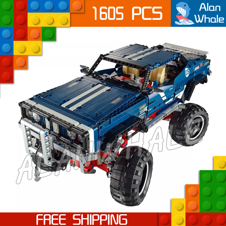 1605pcs Techinic Remote Controlled 4x4 Crawler Exclusive Edition LED 20011 Figure Building Blocks Toys Compatible With LegoING1605pcs Techinic Remote Controlled 4x4 Crawler Exclusive Edition LED 20011 Figure Building Blocks Toys Compatible With LegoING