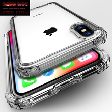 Fashion Shockproof Bumper Transparent Silicone Phone Case For iPhone X XS XR Max 8 7 6 6S Plus Clear protection Back Cover