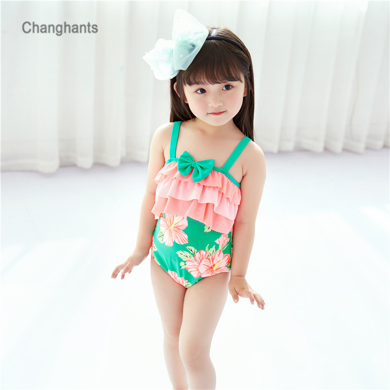 Costumi da bagno da donna Arancione e verde floreale Canotta 2-8 Y - Abbigliamento sportivo e accessori