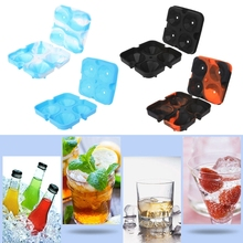 Ice Cube Maker Silicone 4-Cell 3D Diamond Shape Ice Cube Tray Mold Chocolate Popsicle Frozen Maker Tool