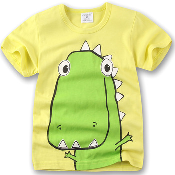 1-6Y Boys T-shirt Dinosaur 2016 Girls Tees Clothing Children Bottoming Shirt Kids t shirt Infantis vetement Summer Clothing