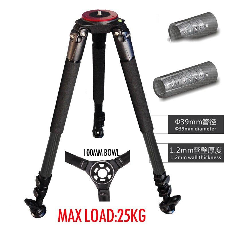 ASHANKS 25kg Load Professional Carbon Fiber Tripod Stand 39mm Foot Tube Diameter For Video Camera ashanks mini carbon fiber handheld