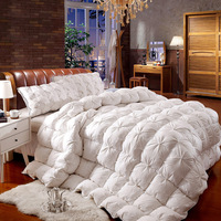 DIFUNINA Luxury Cotton Duvet White Goose Down Quilt Double Bed Quilt Keep Warm Thick King Size Winter Quilt Edredon L