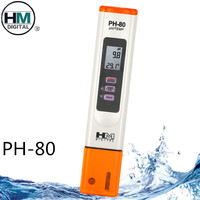 HM Digital PH 80 Waterproof PH Temperature Meter Hydro With Automatic Calibration Function Water Quality PH Tester 40% Off