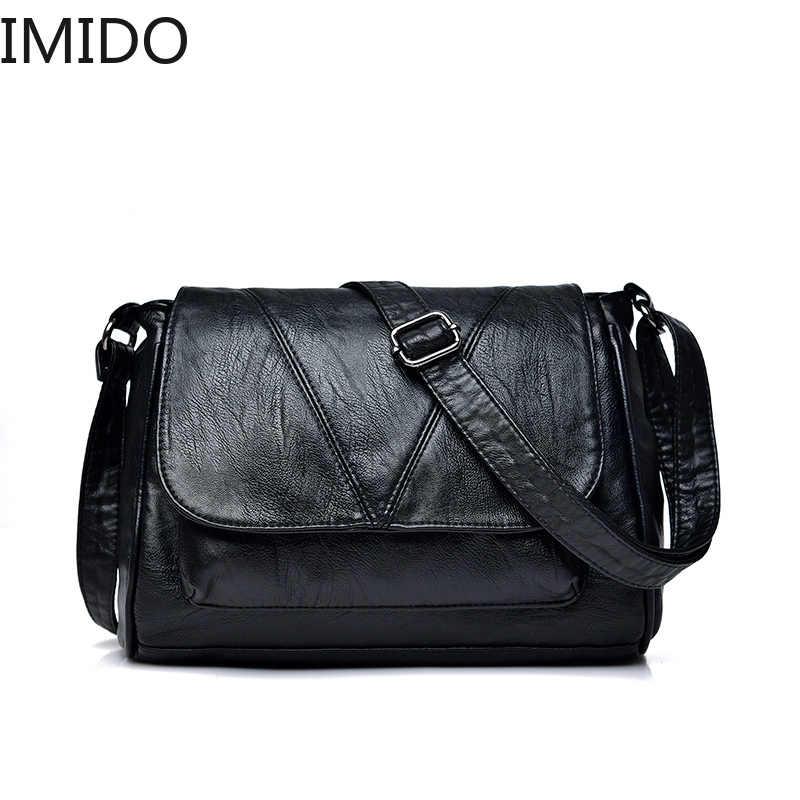 2019 Mulheres Messenger Bags Crossbody Flap Bag Saco de Couro Macio bolsa de Ombro Feminino Bolsa Feminina Bolsas de Grife de Alta Qualidade Da Marca