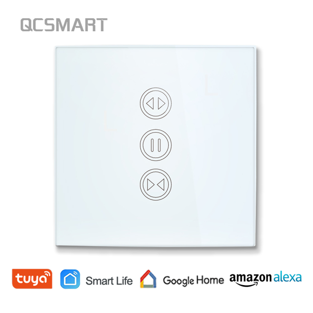 Tuya Smart Life WiFi interruptor de cortina para cortina motorizada eléctrica persiana enrollable, Google Home, alexa de Amazon, Control de voz