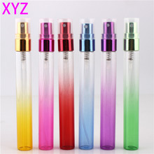 Beautyfull 102 PCS 10ml 6 Gradient Colors  Refillable Sprayer Bottles Mini Glass Atomizer Empty Perfume Bottle Sample Containers