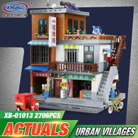 XingBao 01013 Genuine Creative MOC City Series The Urban Village Set Kids legoing Building Blocks Bricks Educational Toys Gift