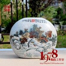 Jingdezhen ceramic vase archaize kiln Modern porcelain European furnishing articles