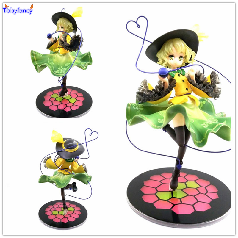 Tobyfancy TouHou Project Action Figures Komeiji Koishi 200mm PVC Model Toys Anime TouHou Project Komeiji Koishi Figures natural handmade brand waterproof bewell maple wood watch with wooden case