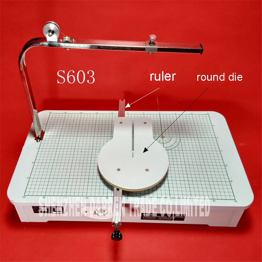 S603 High Quality 220 V Hot wire foam cutter foam cutting machine tool Working table 59* 33*23 cm best price mgehr1212 2 slot cutter external grooving tool holder turning tool no insert hot sale brand new