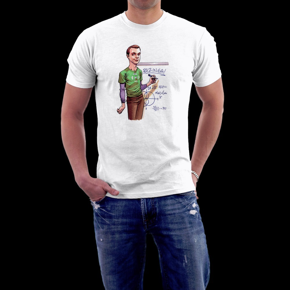TBBT big bang theory sheldon cooper men women t-shirt o-neck 100% 180gsm ringspun cotton short sleeve big size free shipping
