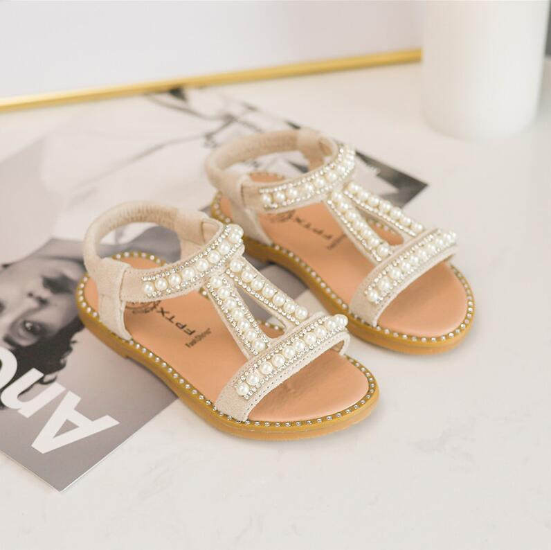 Aliexpress.com : Buy Hot Baby Girls Sandals Pearl Crystal ...