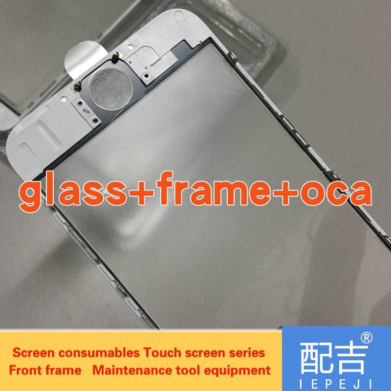 imágenes para 10 unids/lote Bisel Frontal Del Marco soporte de la pizca de vidrio + oca cola fría para iPhone6 6 plus 6 s 6 splus LCD pantalla lcd Carcasa Central