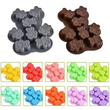 Cute 3D Litter Bear Silicone Fondant Candy Jelly Chocolate Mold Cake Decorating Cookie Baking Tools