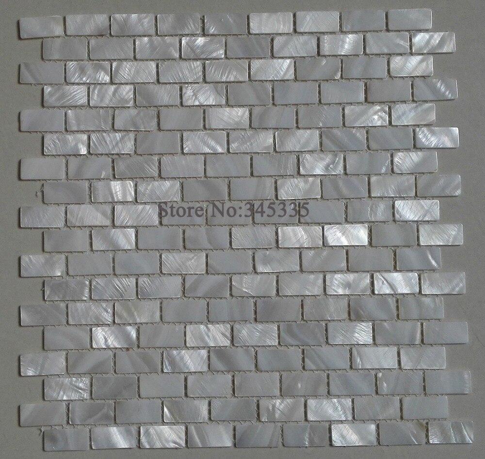 White Brick Shell Mosaic Font