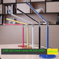 Hight Qualidade 24 LED Desk Lamp Table Lighting Proteger os olhos de Vidro Temperado Base de USB/AC 110 V-240 V Poder
