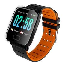 Купить с кэшбэком RUIJIE A6 Smart Watch Fitness Tracker Heart Rate Sleep Monitor Smartwatch Waterproof Men Sport Watch Band for IOS Android Gifts