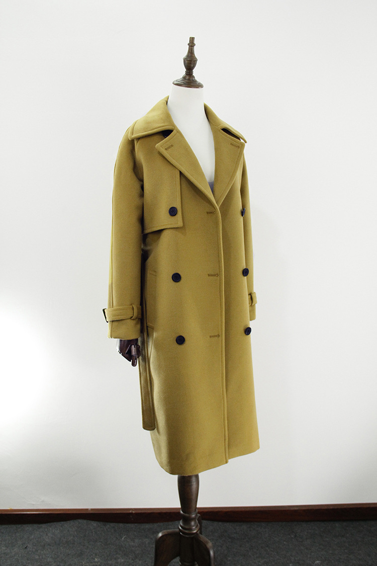 Invierno Unido 2019 Con Lana Moda Lining Abrigo Simple Otoño Reino poyester Mujer Warm Quilted Lining Slim Clásico Femme Abrigos De Cinturón Manteau Para qxtEXFgOwn