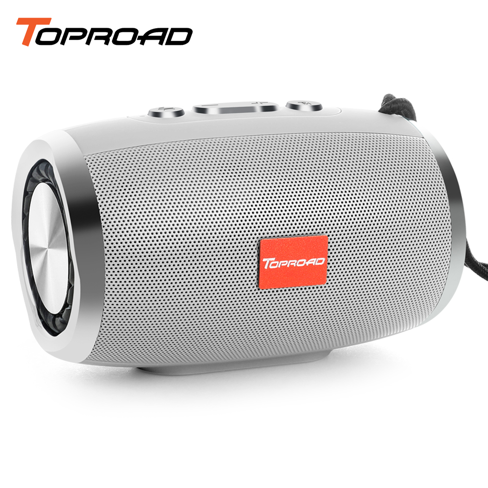 Cheap Price Toproad Wireless Bluetooth Speaker Portable Stereo Sound Speakers Support Tf Fm Radio Aux With Mic Music Column Box For Phone Pc